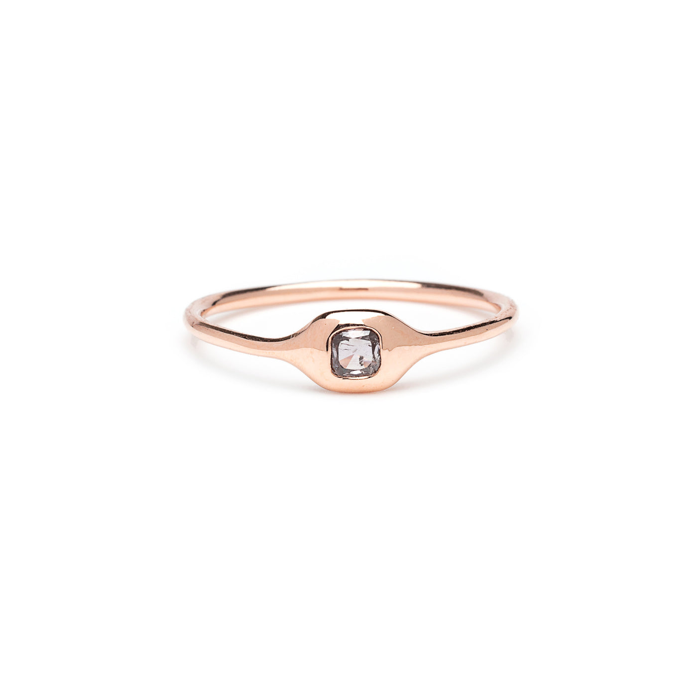 pink cushion diamond ring