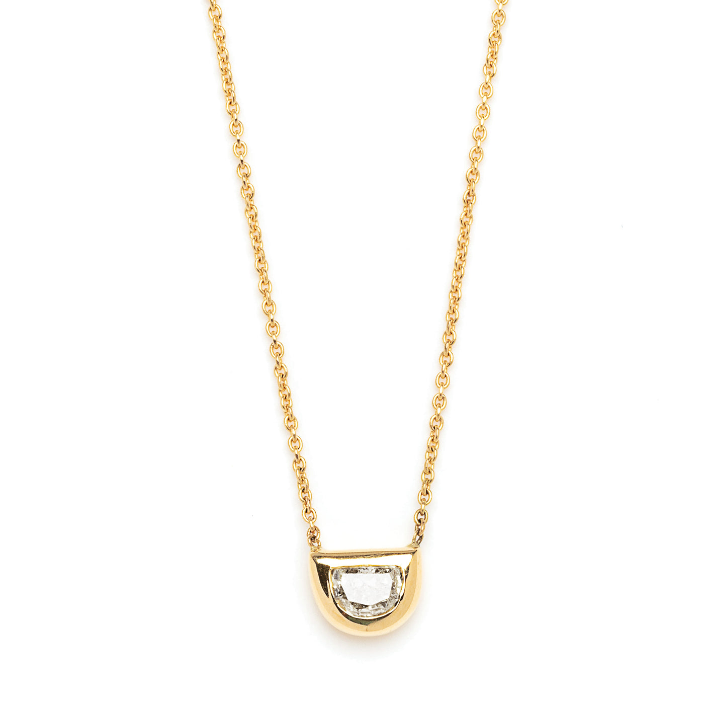 halfmoon diamond necklace