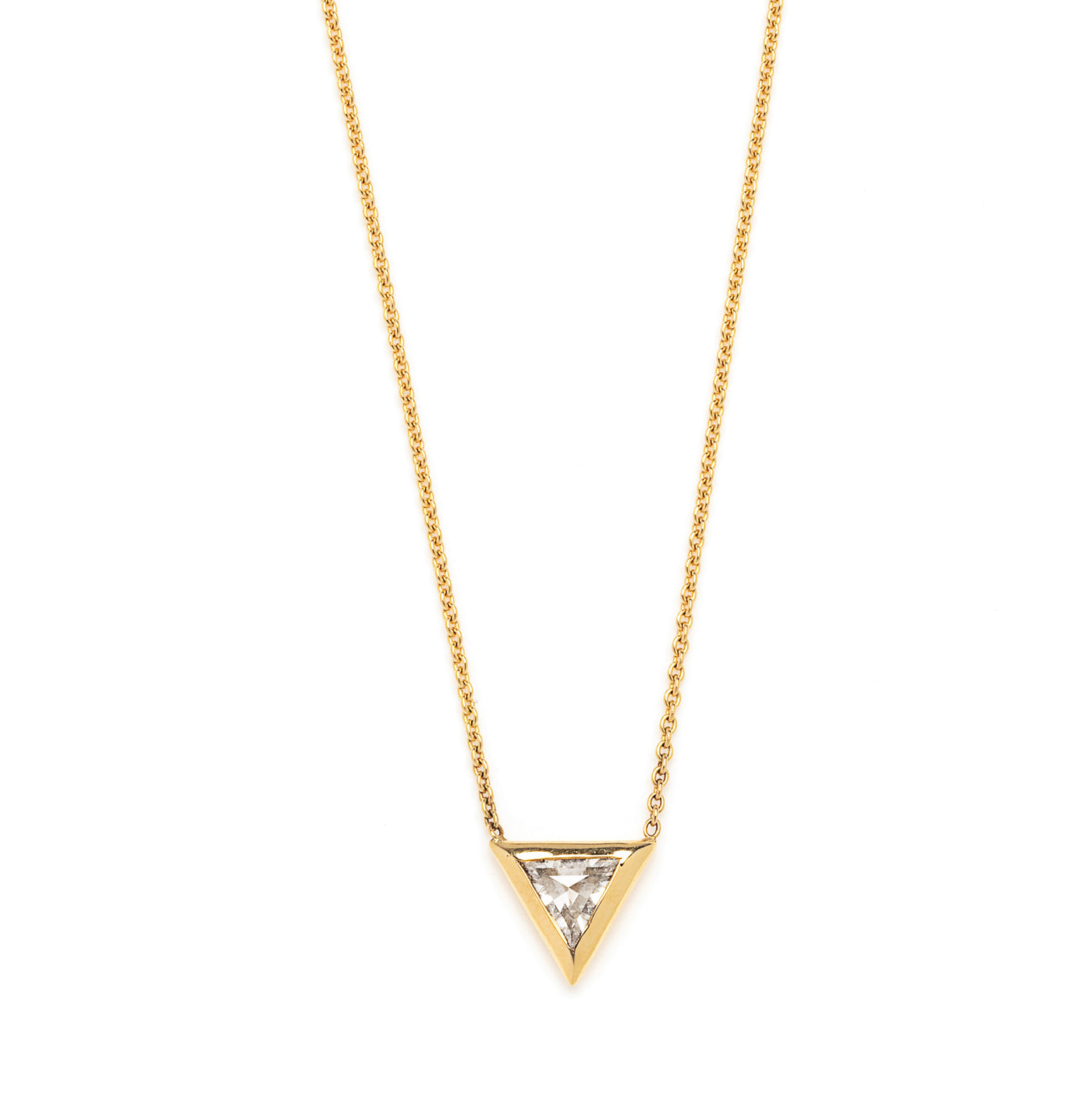 trillion diamond necklace