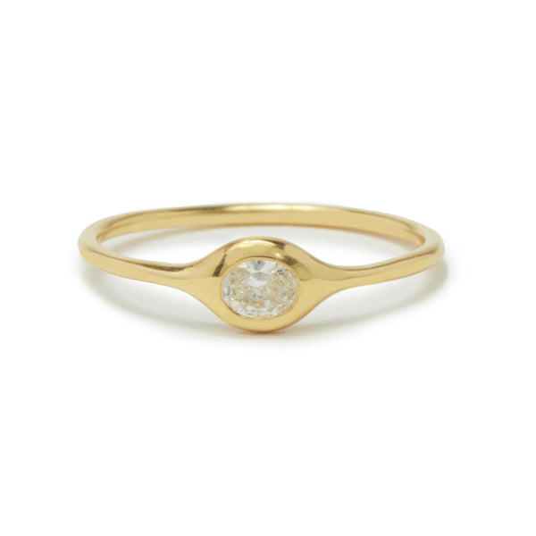 mini diamond shape ring - oval
