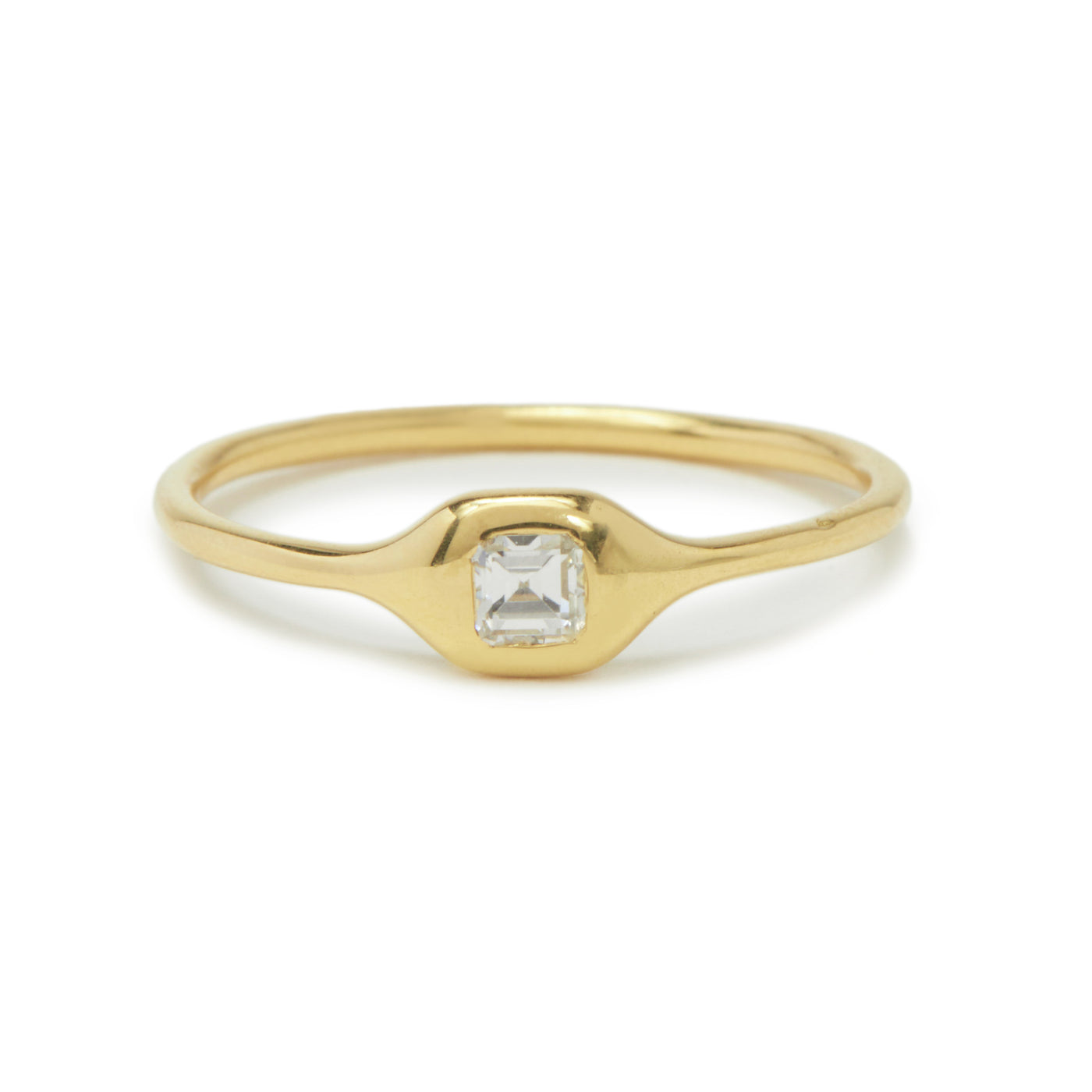 mini diamond shape ring - ascher cut