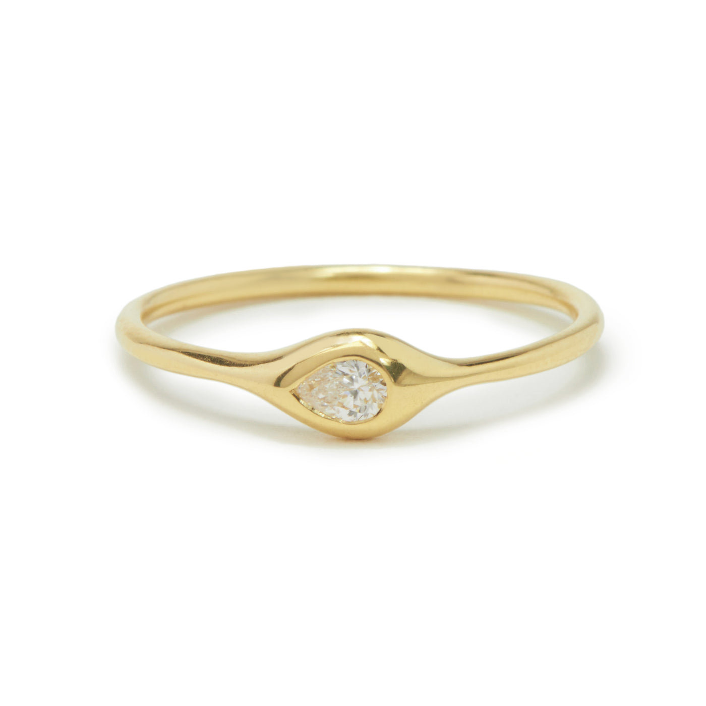 mini diamond shape ring - pear