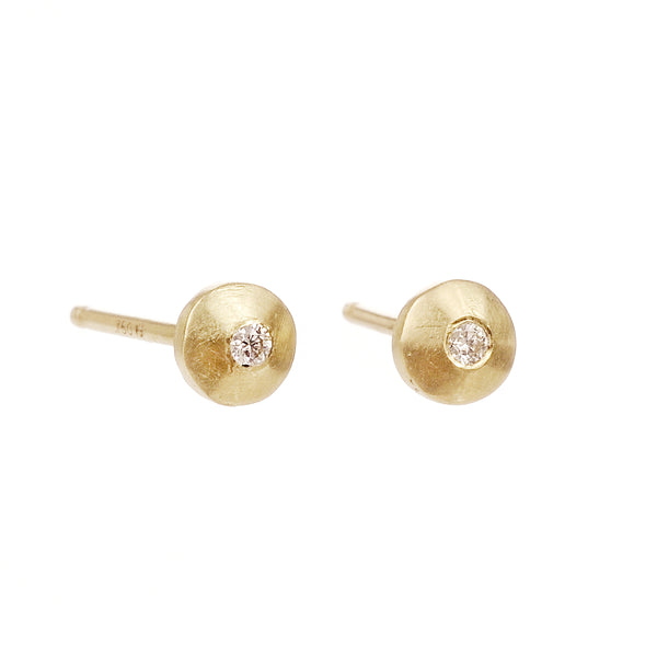 diamond nugget studs