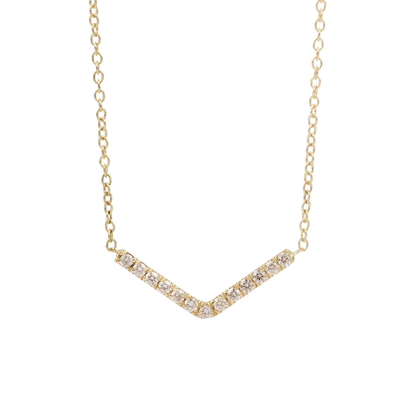 pavé arrow necklace