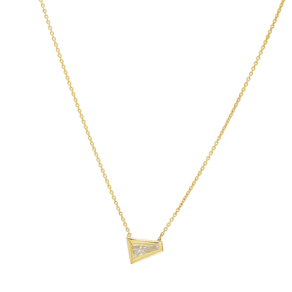 tapered baguette east-west diamond necklace