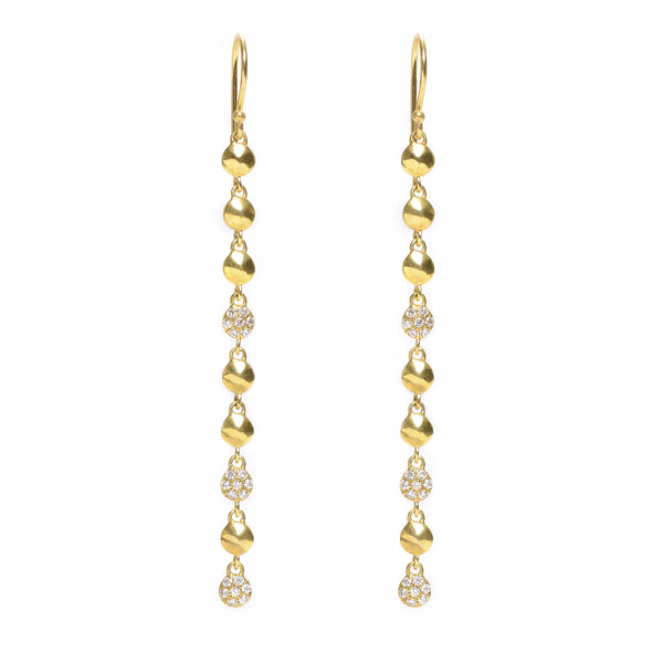 triple pavé nugget drop earrings