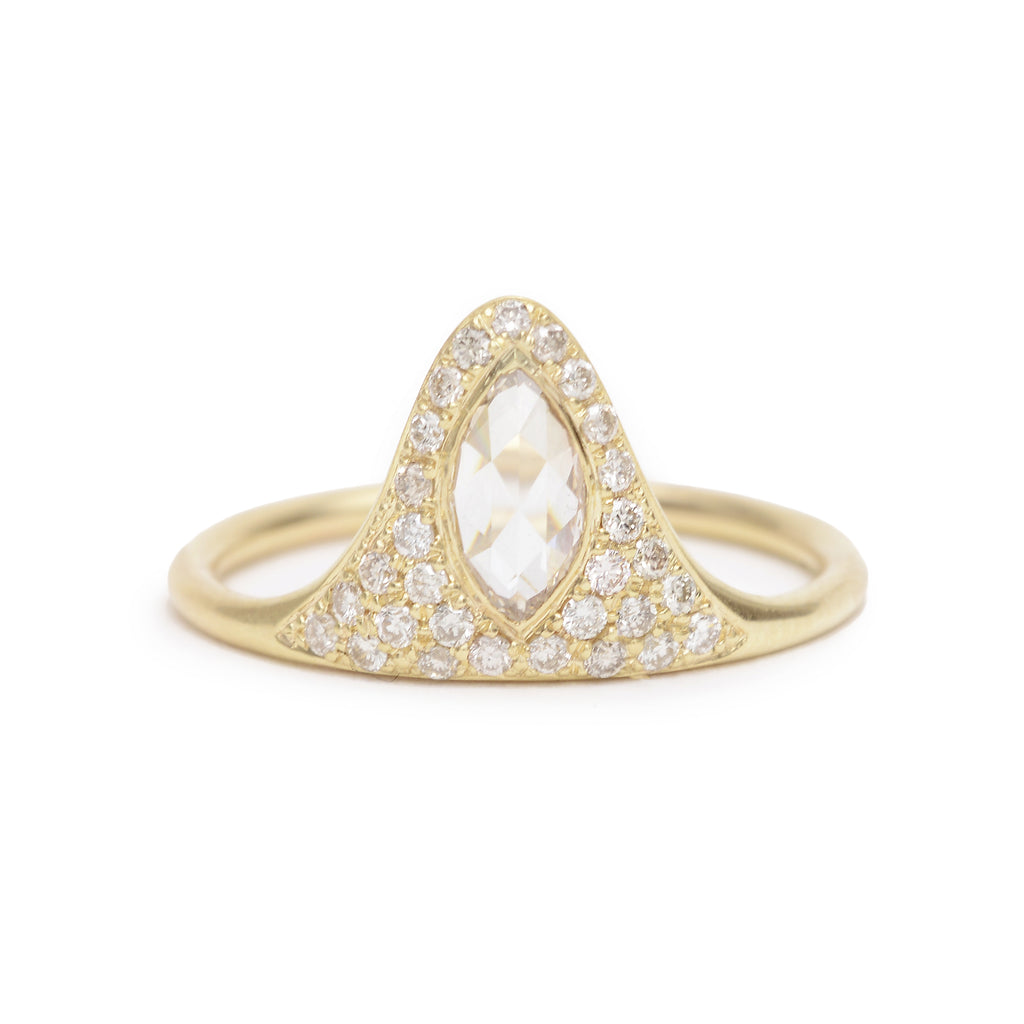 marquise pave ring