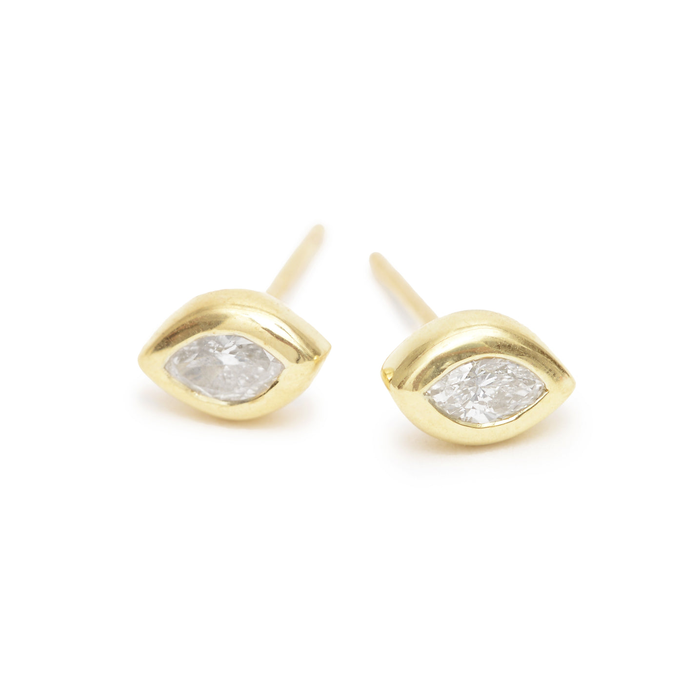 white marquise essential studs