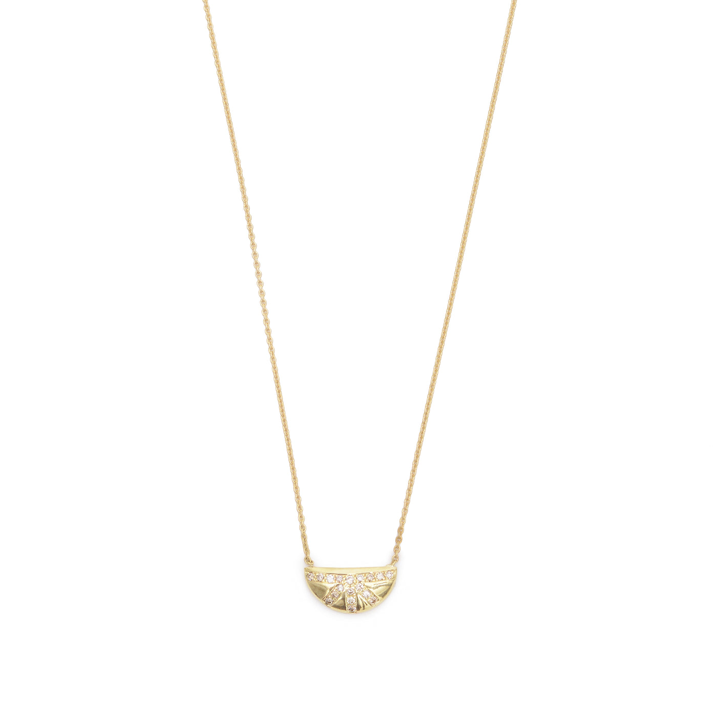 pave sunrise necklace
