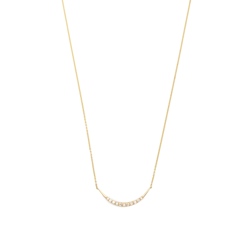 pave arch necklace