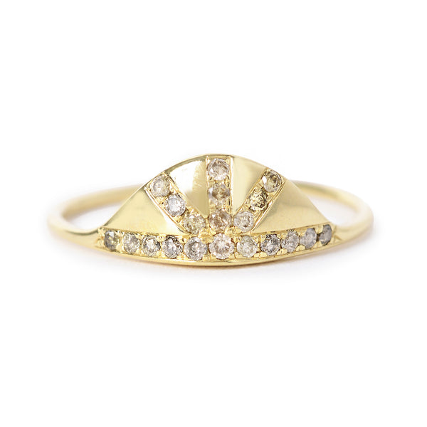 pavé sunrise ring