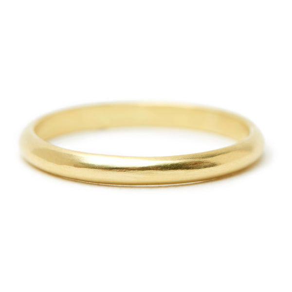 rounded gold band #1