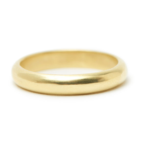 rounded gold band #2