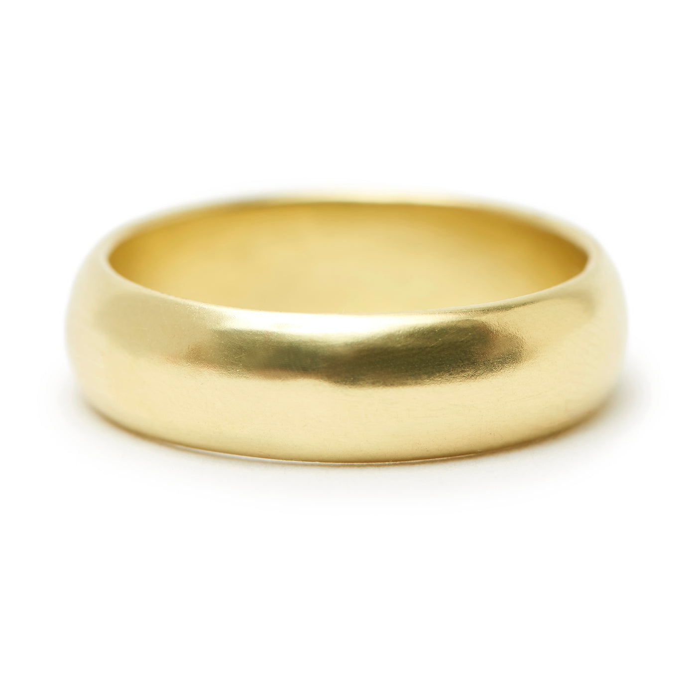 rounded gold band #3