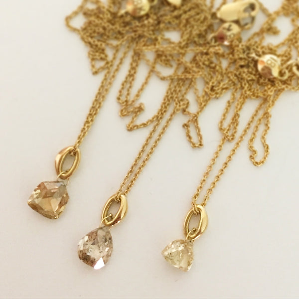 diamond briolette necklace #2