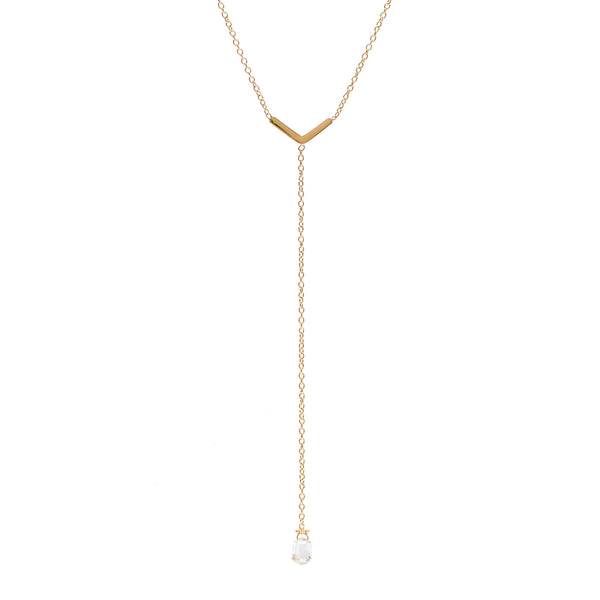 arrow lariat with diamond drop