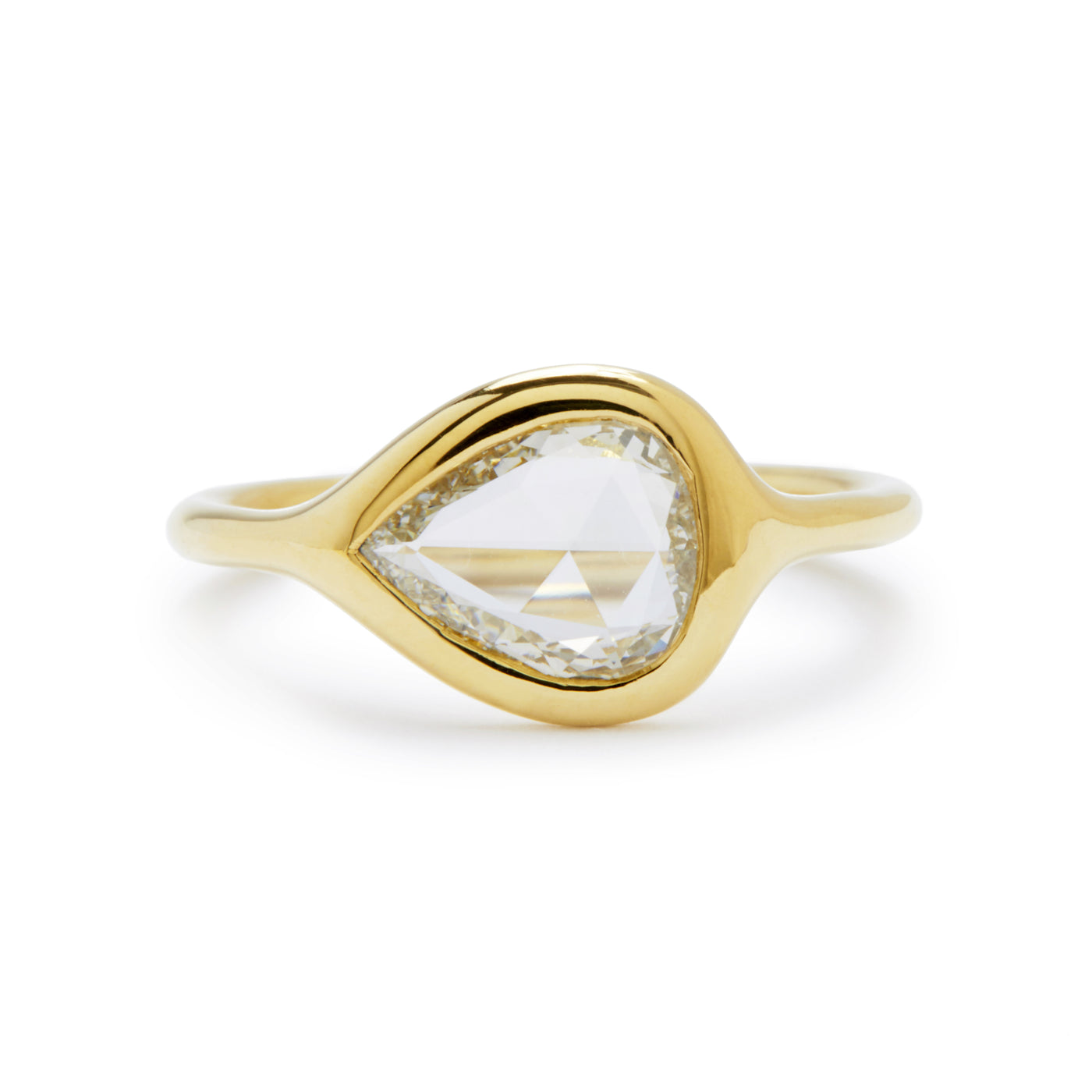 carved ring - pear rose cut