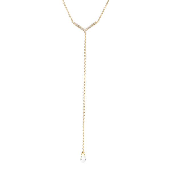 pavé arrow lariat