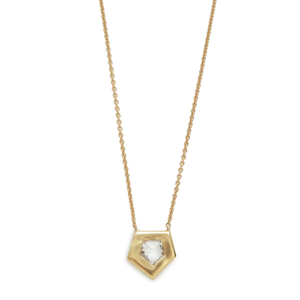 pentagon shape necklace