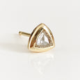 triangle rose cut diamond stud