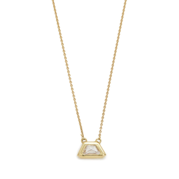 trapezoid diamond shape necklace