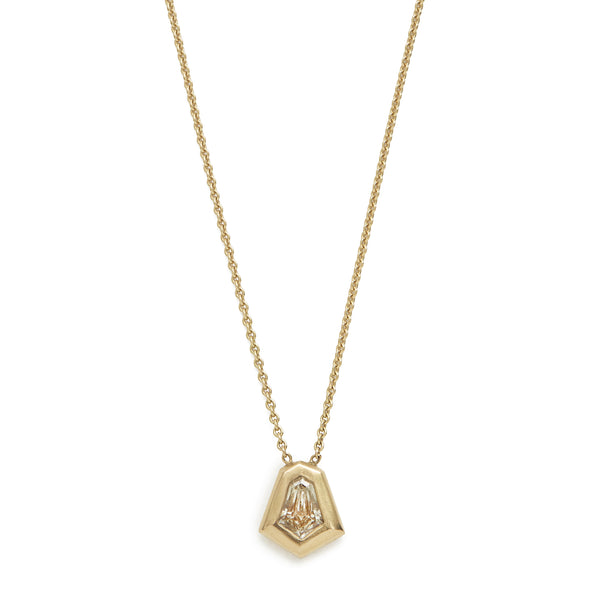 bell diamond shape necklace