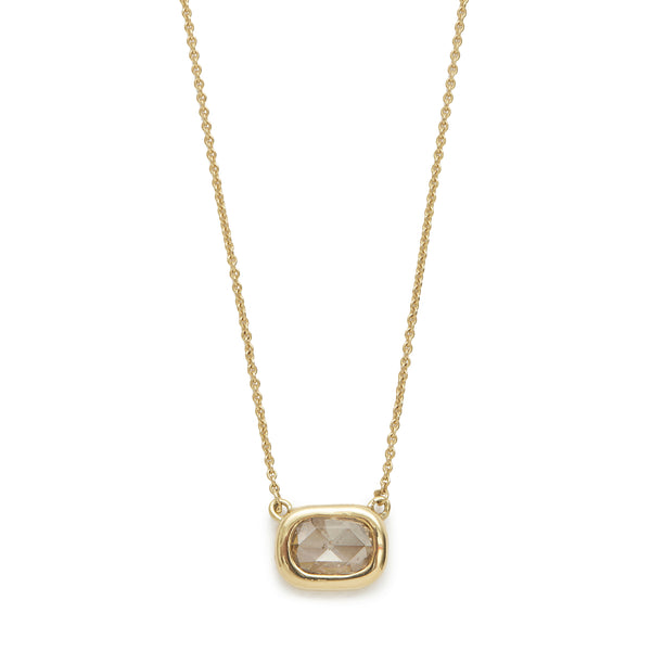 large oval diamond shape necklace