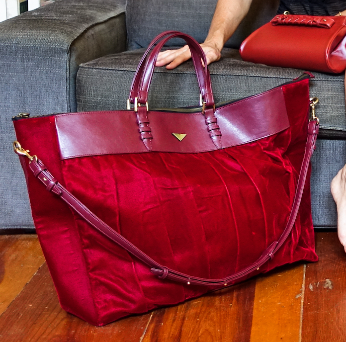 Red Velvet Overnight Duffle