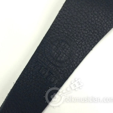 Long Hollow Mandolin Strap Black Leather