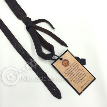 Long Hollow Leather Mandolin Strap Brown