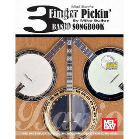 3 Finger Pickin Banjo Songbook Book CD