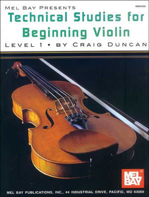 Technical Studies for Beginning Violin Book