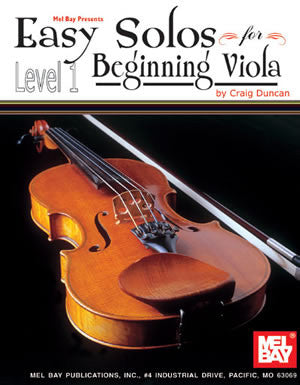 Easy Solos for Beginning Viola Book