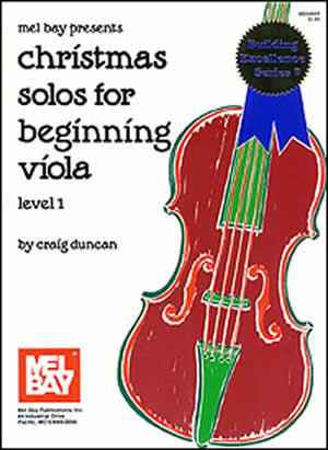Christmas Solos for Beginning Viola Level 1 Book