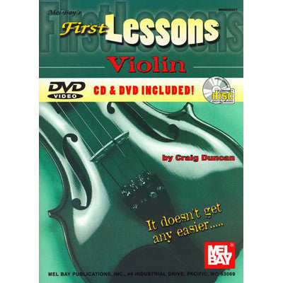 First Lessons Violin Book CD DVD Set)