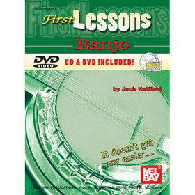 First Lessons Banjo Book CD DVD Set
