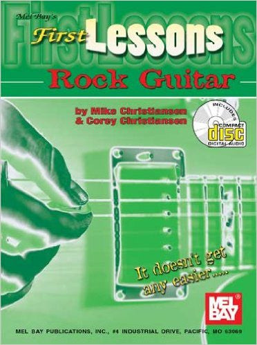 First Lessons Rock Guitar Book CD