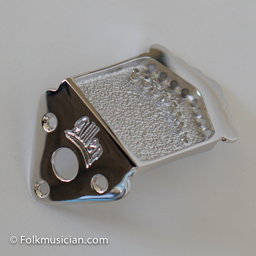 Allen Mandolin Tailpiece Style 1 Nickel