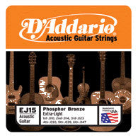 DAddario Phosphor Bronze Acoustic Guitar Strings Xtra-LT
