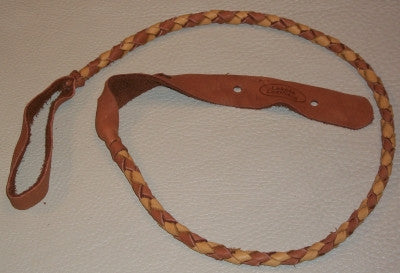 Lakota Leather Mandolin Strap Round Tan Tobacco