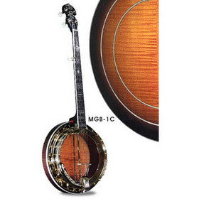 Morgan Monroe Banjo Maple Rim Resonator Clear