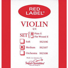 Super Sensitive Red Label Violin Strings