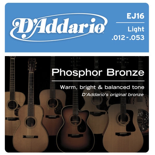 DAddario Phosphor Bronze Acoustic Guitar Strings LT