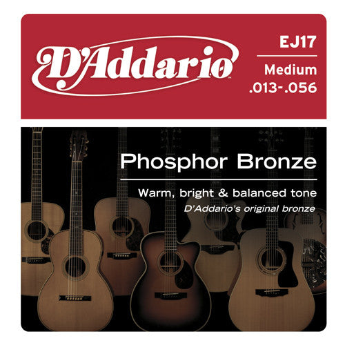 DAddario Phosphor Bronze Acoustic Guitar Strings Medium