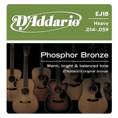 DAddario Phosphor Bronze Acoustic Guitar Strings Heavy