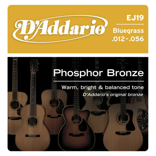 DAddario Phosphor Bronze Acoustic Guitar Strings Bluegrass