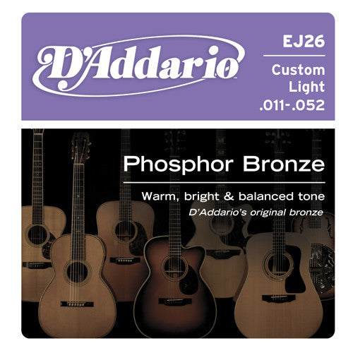 DAddario Phosphor Bronze Acoustic Custom Light
