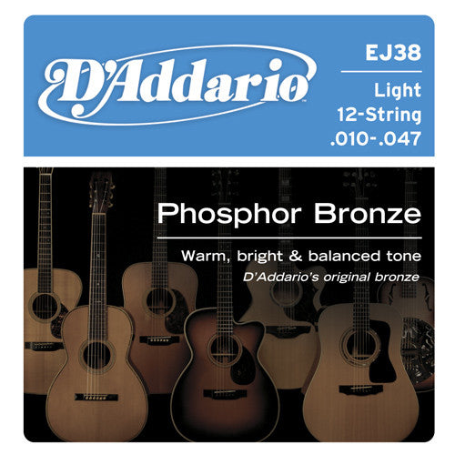 DAddario Phosphor Bronze Acoustic 12 String LT