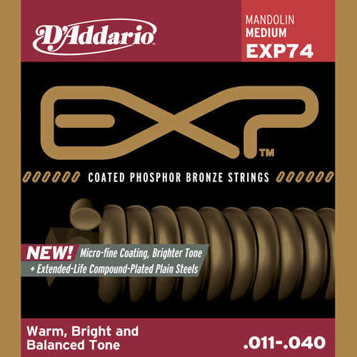 DAddario Mandolin Strings EXP Phos Brz MD