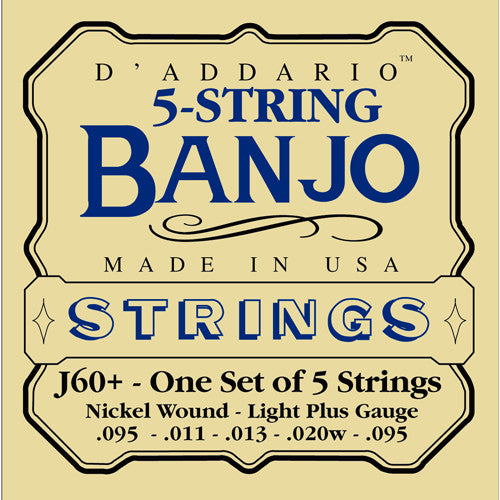 DAddario Banjo Strings Nickel Wound Light